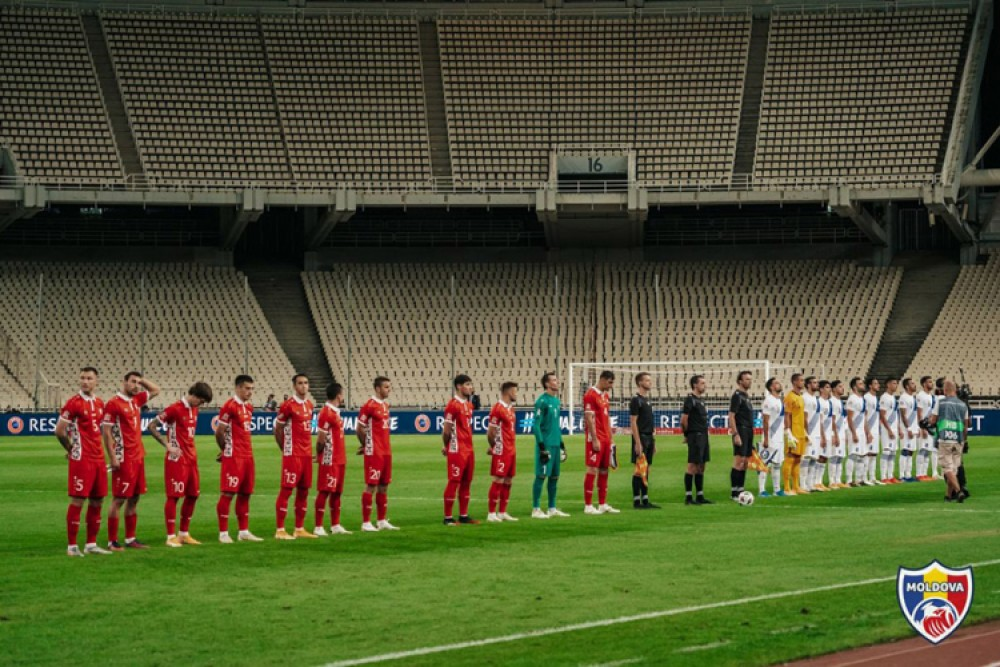 """Echipa Națională de fotbal a Moldovei a pierdut în fața Greciei: """"Echipa s-a apărat bine..."""""""