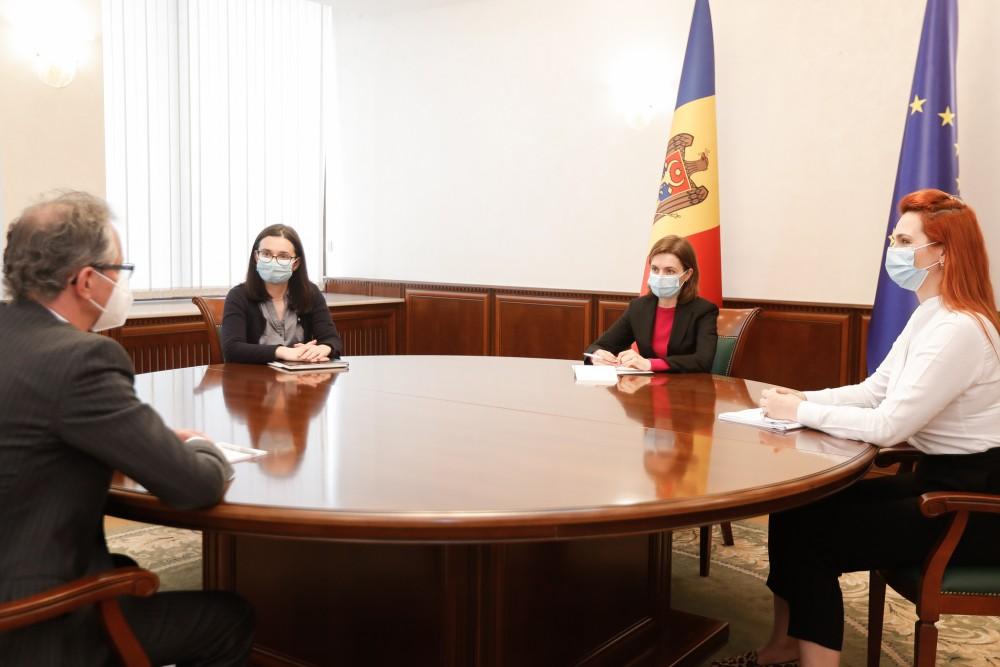Maia Sandu a avut o întrevedere cu Claus Neukirch, șeful Misiunii OSCE în Republica Moldova
