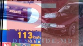 Un șofer băut se deplasa cu 113 Km/h pe o stradă din Chișinău. A încercat să fugă de poliție